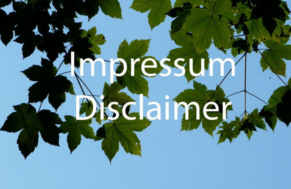 Impressum / Disclaimer