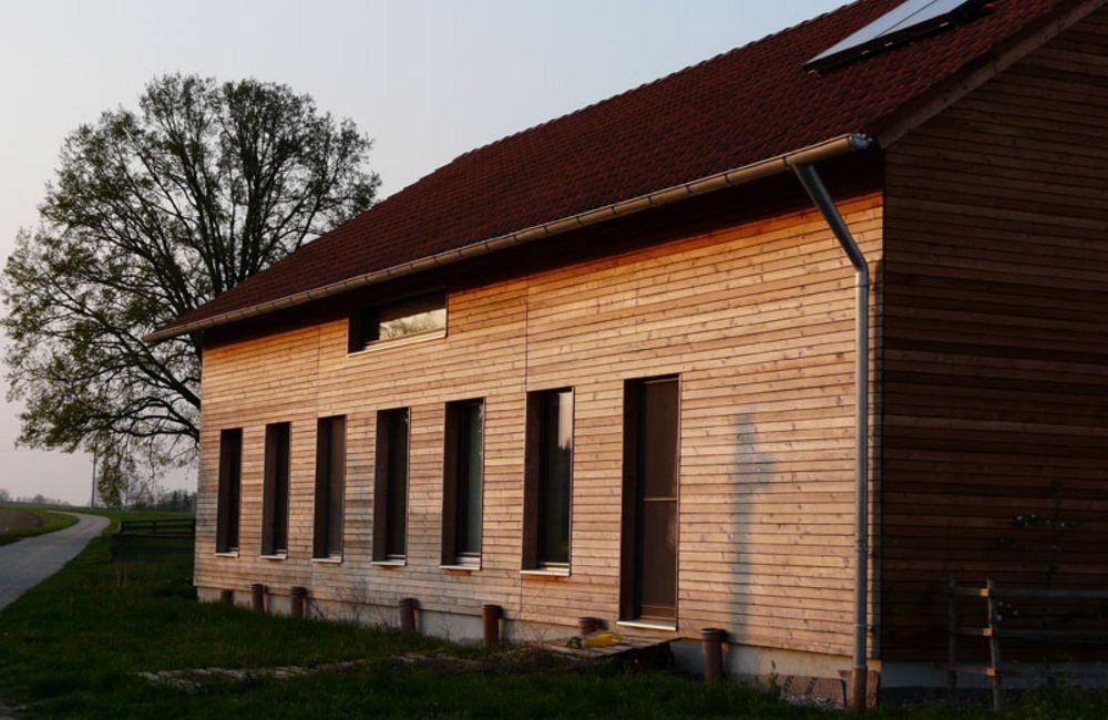 Passivhaus Holzständerbauweise in Rotthalmünster